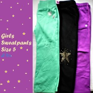 3 pair girls sweatpants good condition